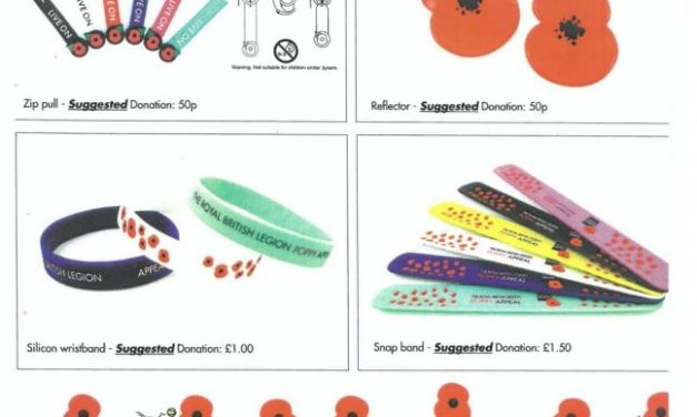 Poppy Appeal: On Sale from 4th November from the school office…